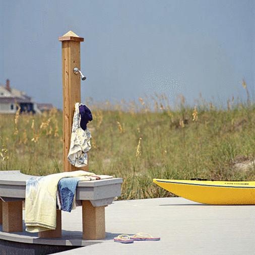 Стильные и оригинальные идеи летнего душа на даче