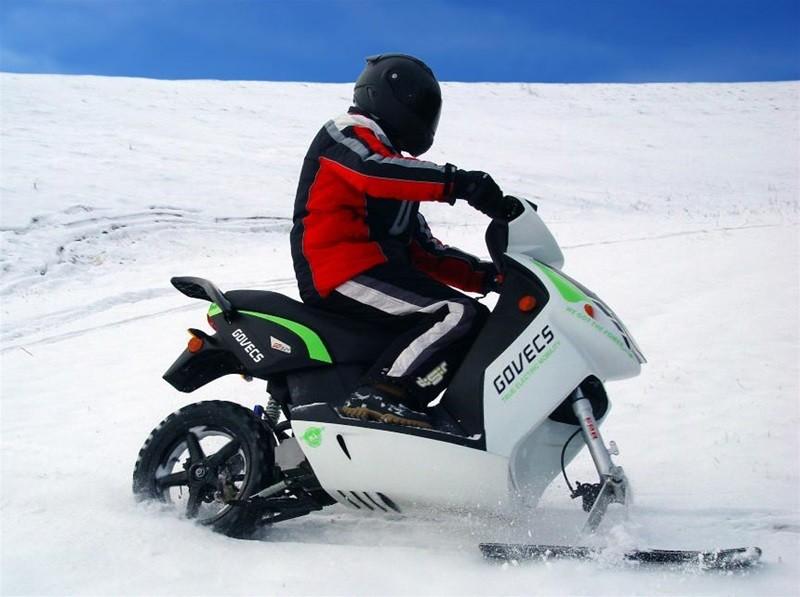 Как сделать снегоход из скутер