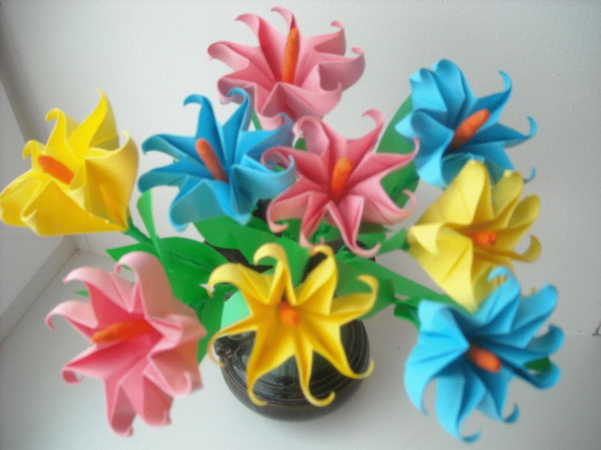 Поделки цветов своими руками из бумаги для детей