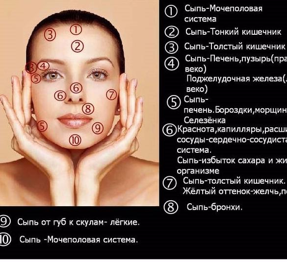 Сыпь на лице при гастрите