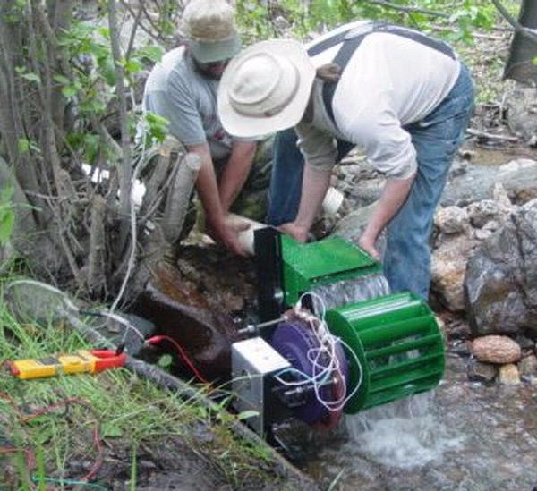 Гидроэлектростанция на ручье своими руками 776