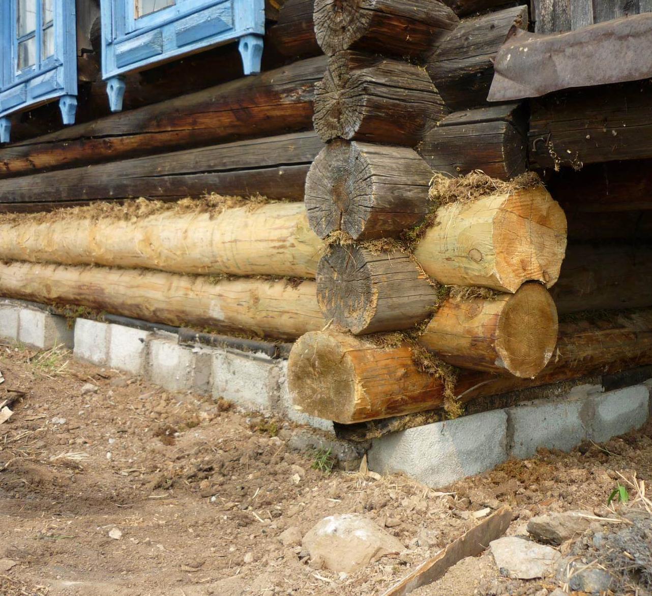 Замена нижнего венца деревянного дома своими руками без поднития дома