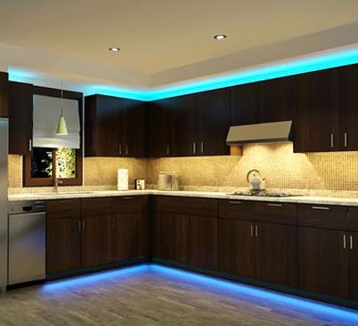Светодиодная подсветка для кухни: выбор и монтаж своими руками