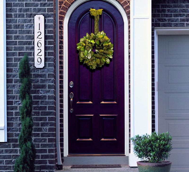 Цвет входной двери по фен шуй