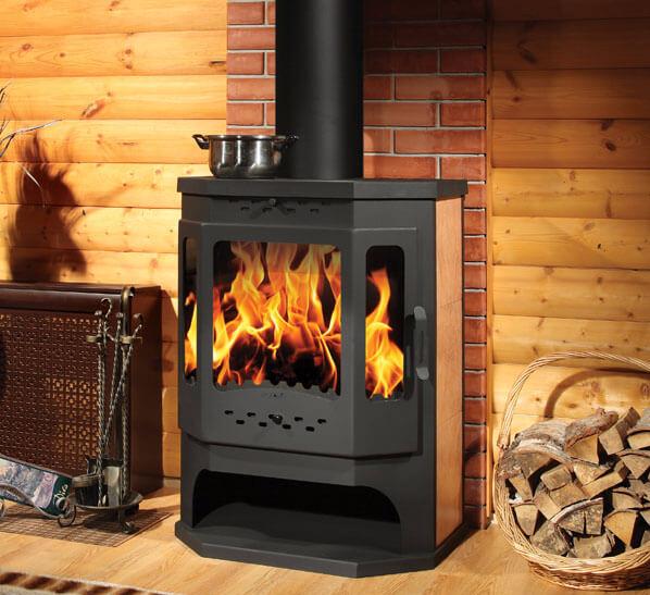 Лучшая чугунная печь-камин с теплообменником печь - камин бавария угловая с теплообменником