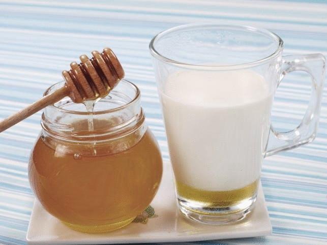 чай с молоком и медом