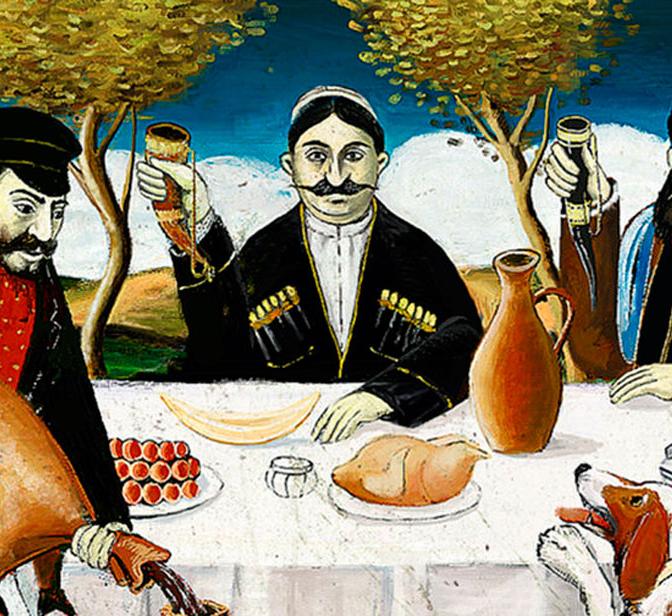 Картинки для декупажа грузинское застолье