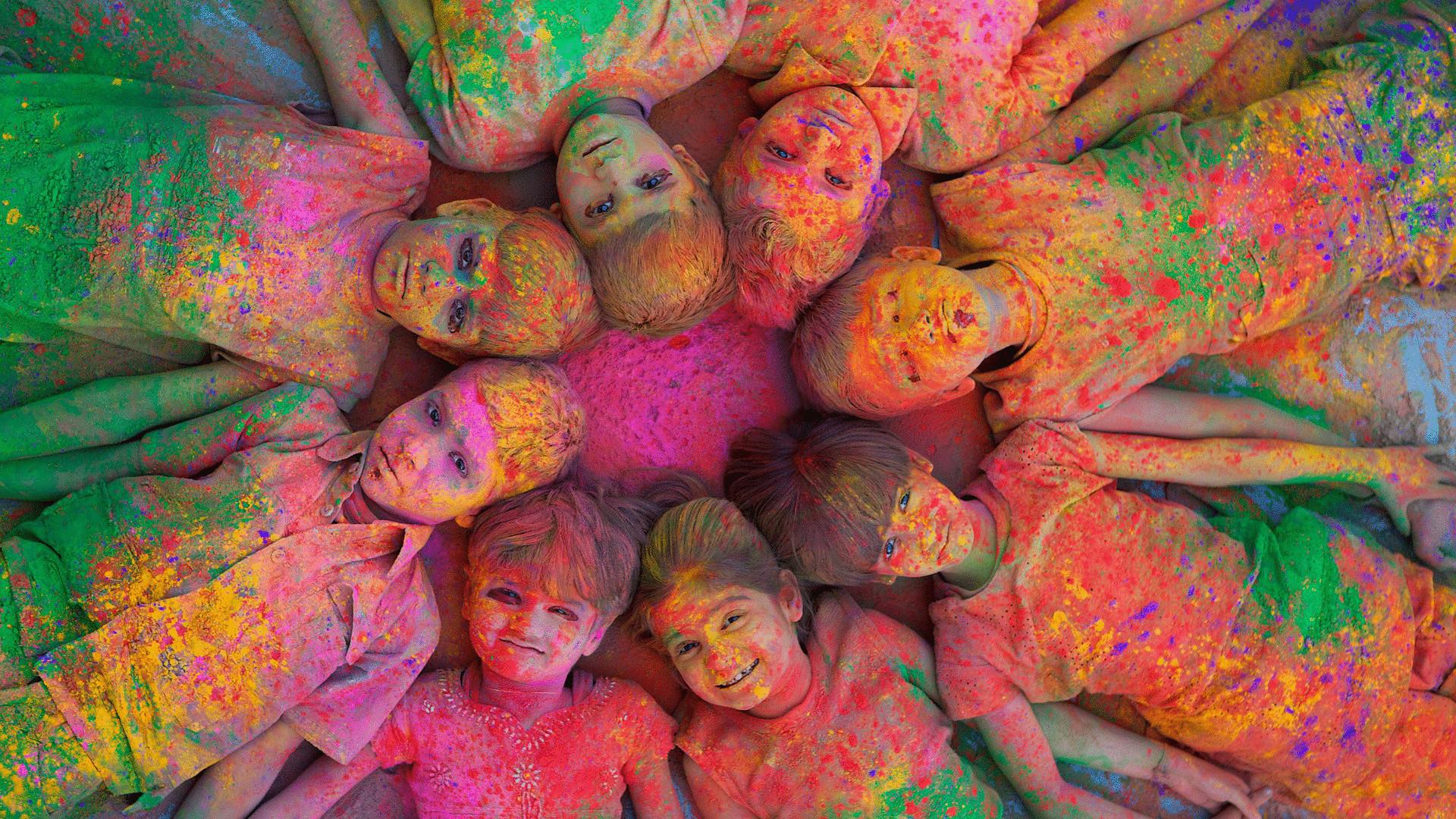 Детский праздник красок организация детских праздников Сосновая улица (деревня Мешково)