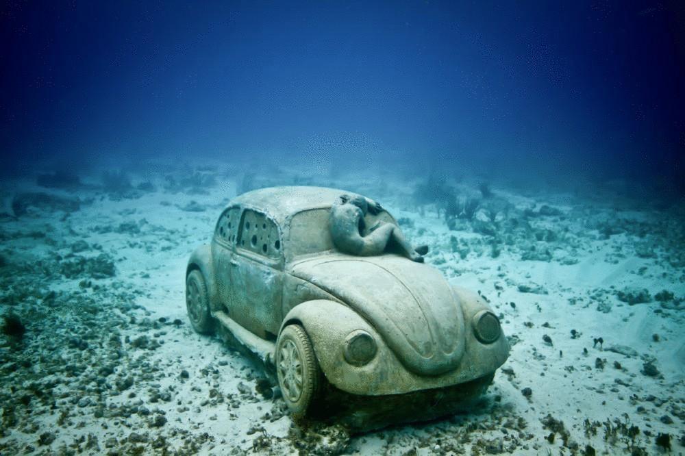 Невероятный подводный музей в мексике