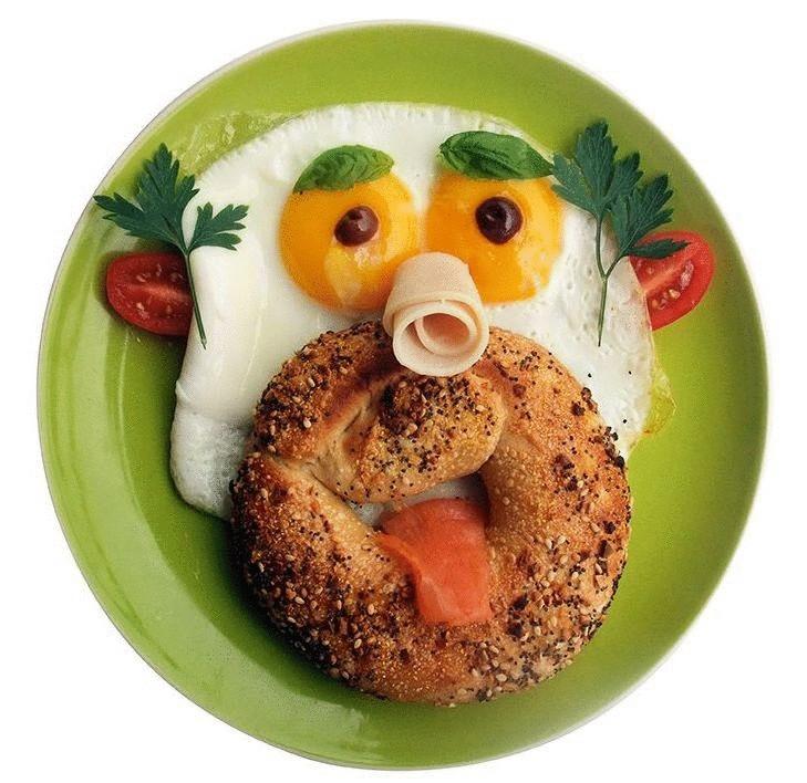 художественные картинки завтрака прикольные половинку приготовленного