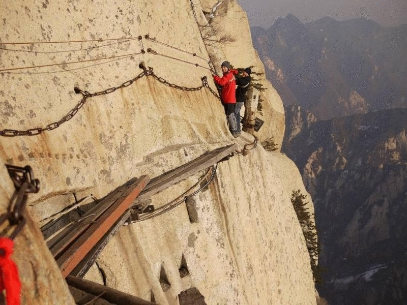 Тропа Huashan Cliffside