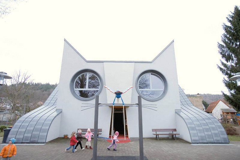 Cat Shaped School