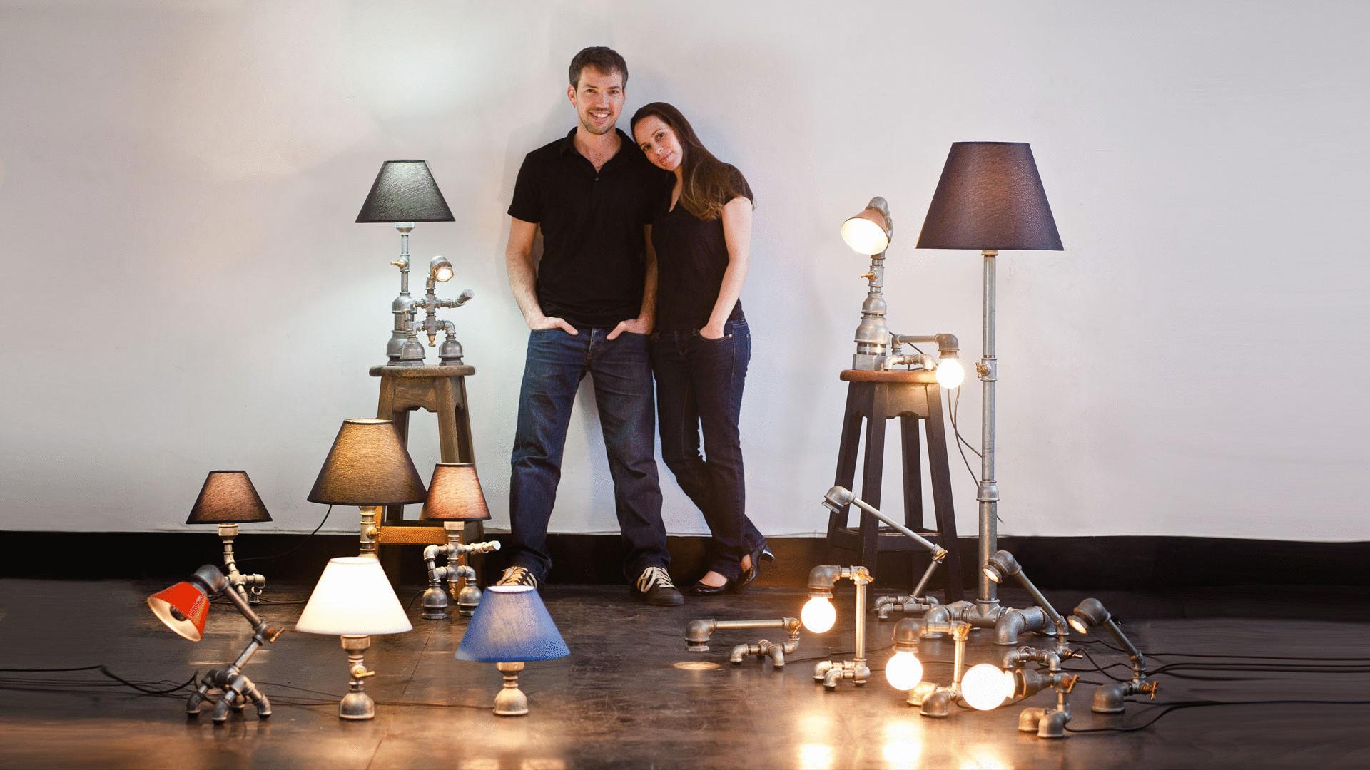 Настольные лампы своими руками из труб