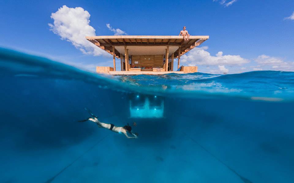 Дом в остров Янина на берегу