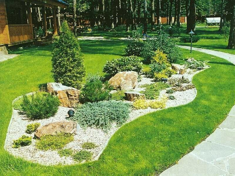 Ландшафтный дизайн в стиле эко
