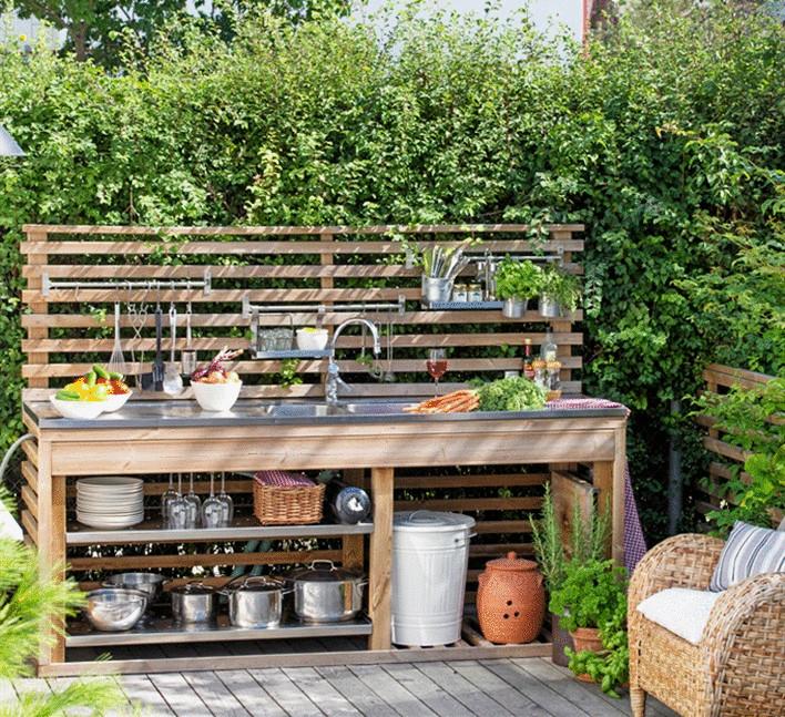 Летняя кухня своими руками на даче фото