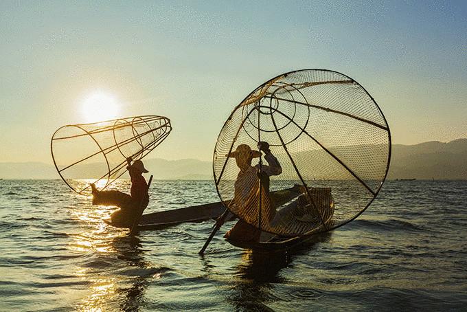Рыбалка на озере Инле, Мьянма