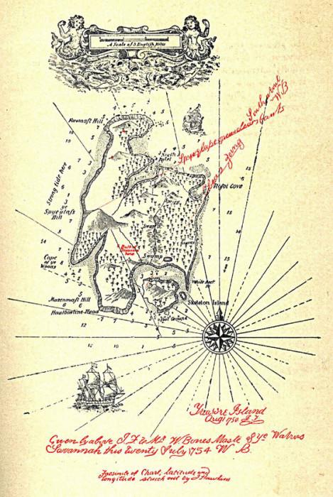 Карта острова сокровищ (Роберт
