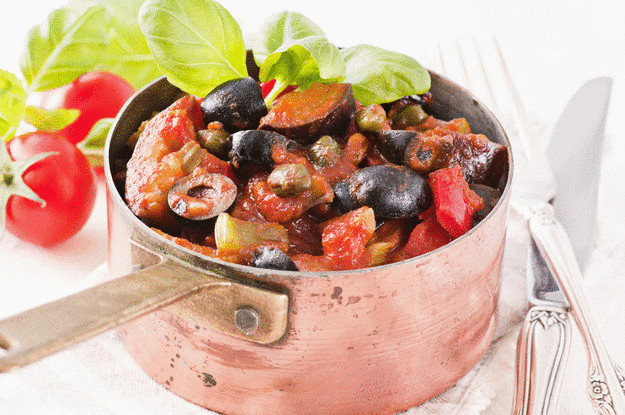 Пять вкусных ужинов для вегетарианцев- сицилийская капоната