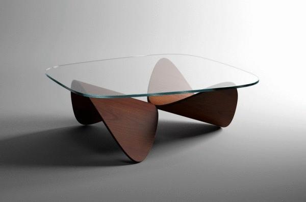 Дизайнерский столик Oak Sofa Table от Sandro Lopez.