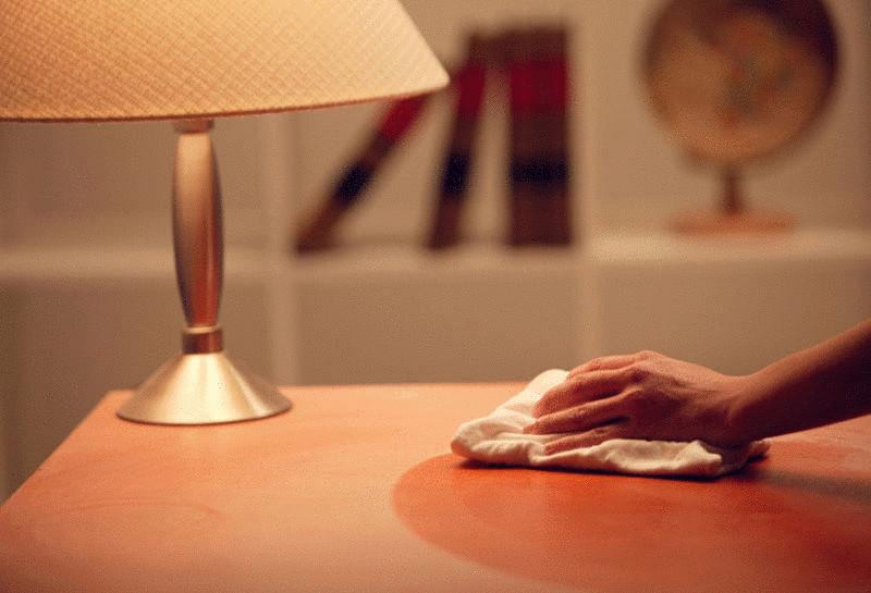 Как вывести белые пятна на мебели