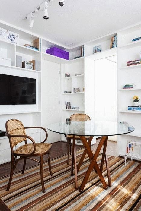Мебель смотрится легко и не загромождает пространство