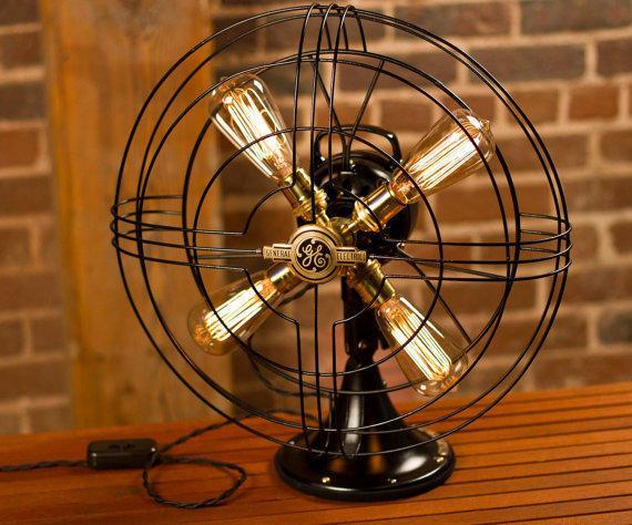Лампа из вентилятора