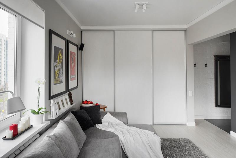 Дизайн и интерьер однокомнатной квартиры хрущевки