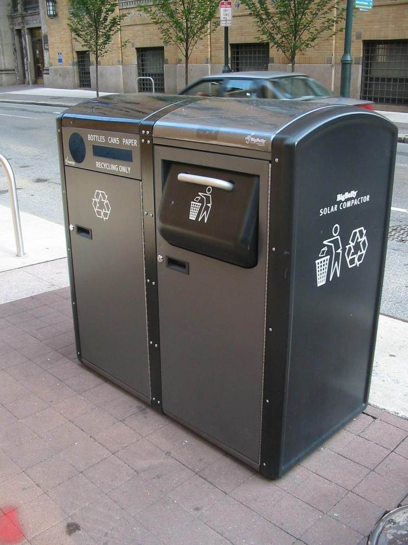 Три этапа переработки мусора