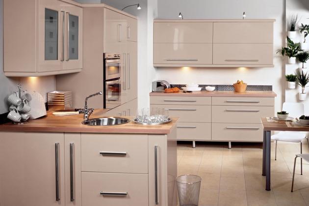 фото кухни цвета капучино