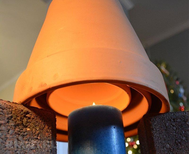 Альтернативные источники тепла: вспомогательный обогреватель из свечи