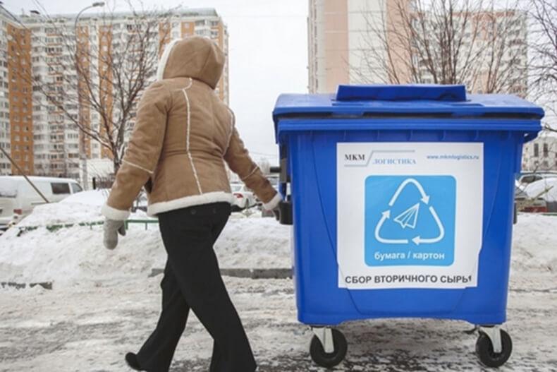 Москвичка заставила чиновников установить баки для сортировки мусора