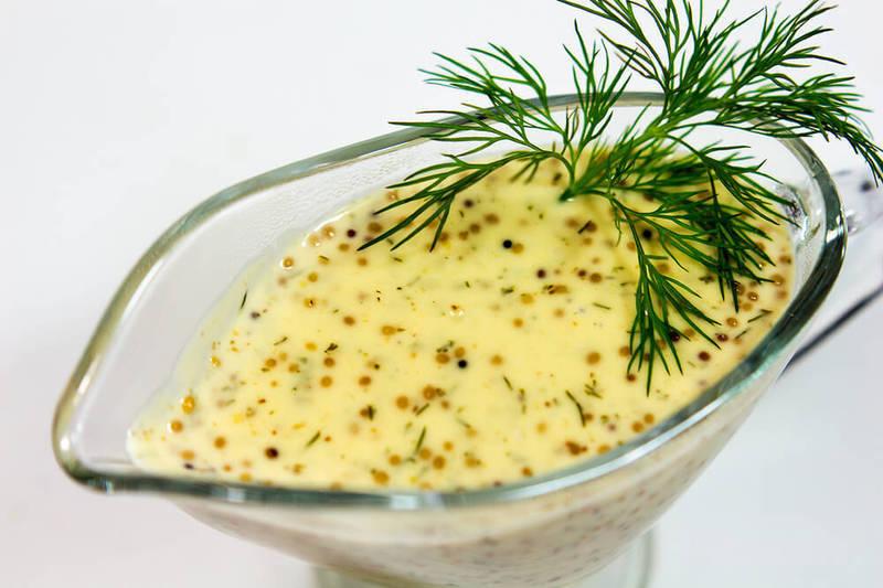 Сметанно-горчичный соус