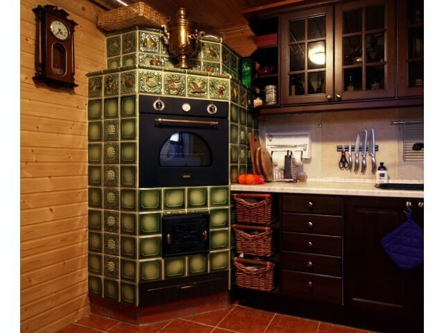 Дизайн кухонь с печками 72