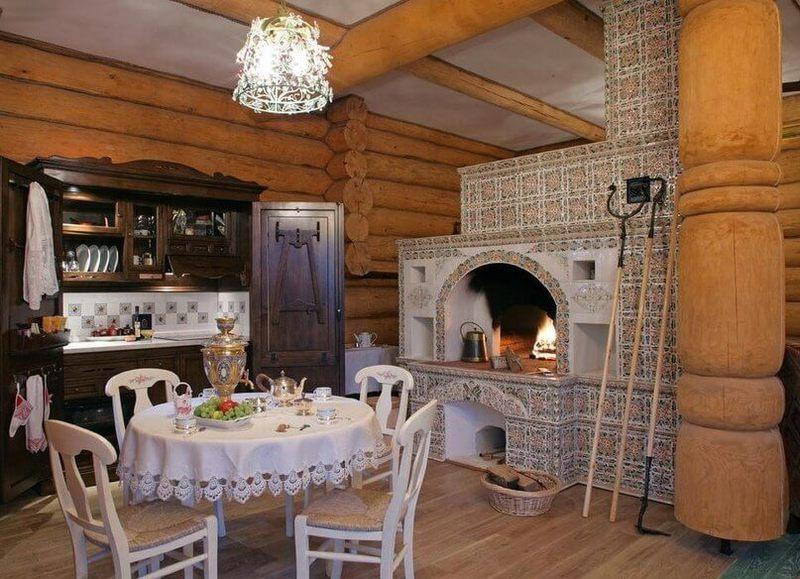 Дизайн деревенского дома с печкой