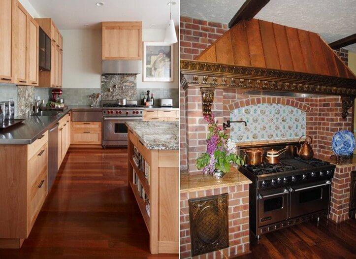 Дизайн кухонь с печками 154