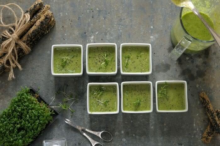 суп из кресс салата видео