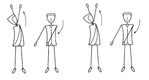 четыре Гетеро-движения спиральной гимнастики