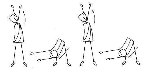 четыре Гетеро-движения третьей стадии sp гимнастики