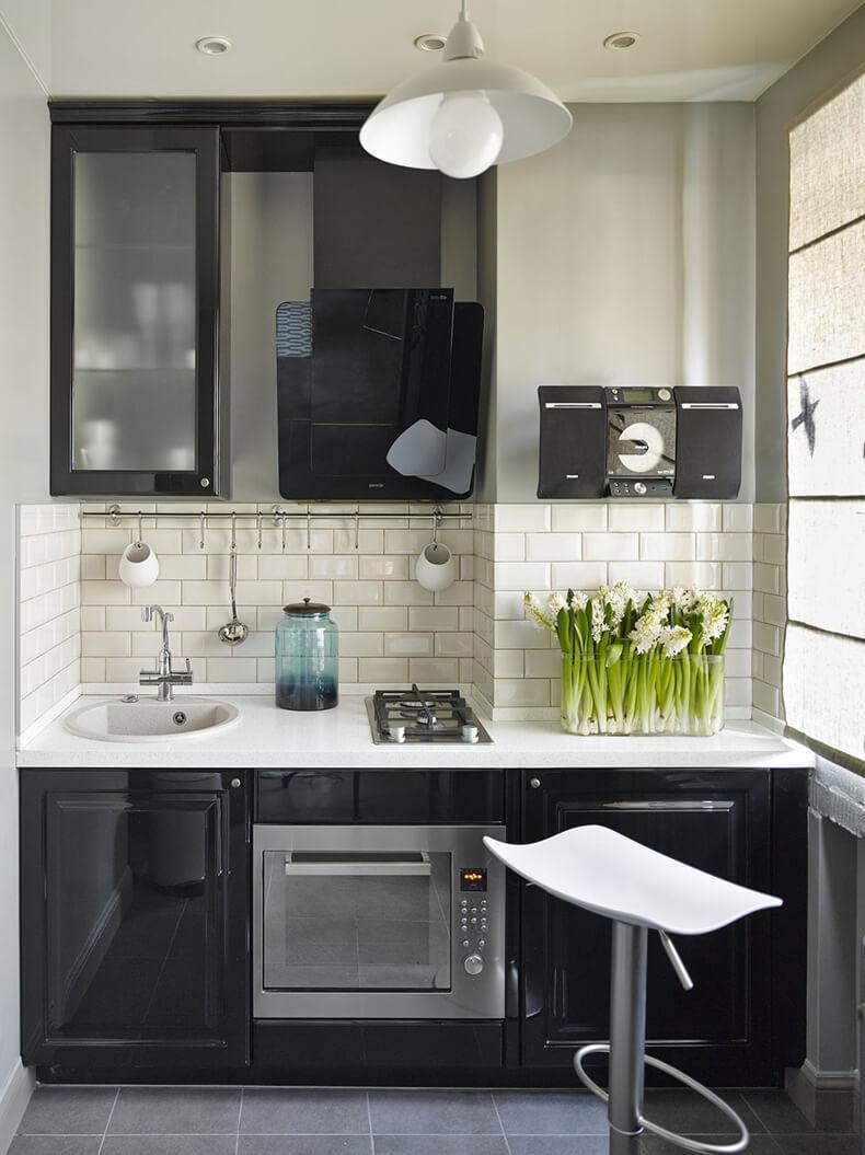 Дизайн кухни маленькая кухня
