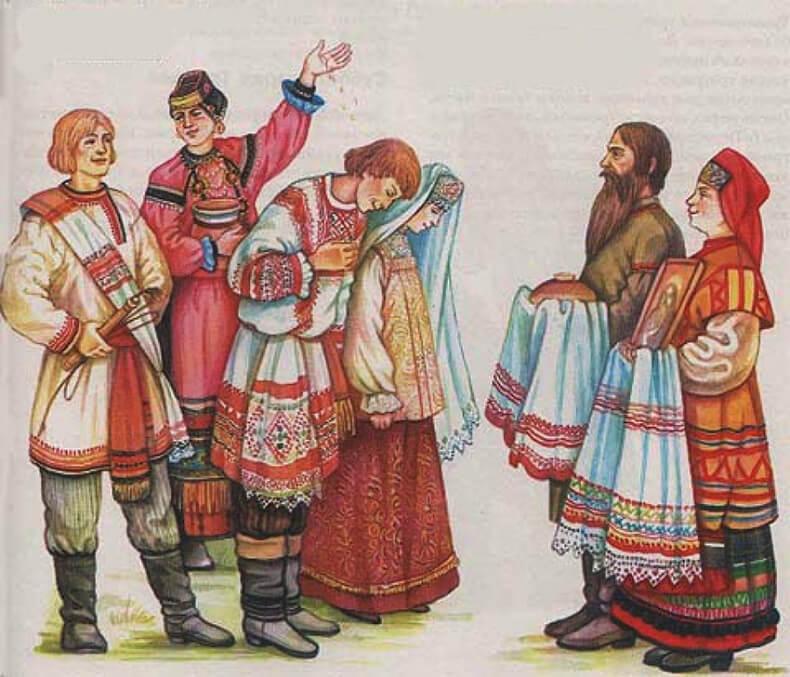 обряды русского народа в картинках сказать, что благодаря