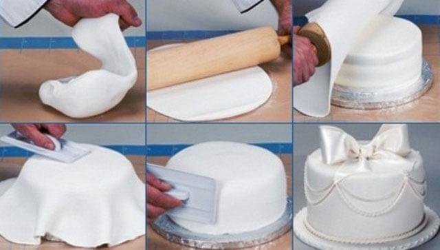 Украшения для торта из мастики пошагово в