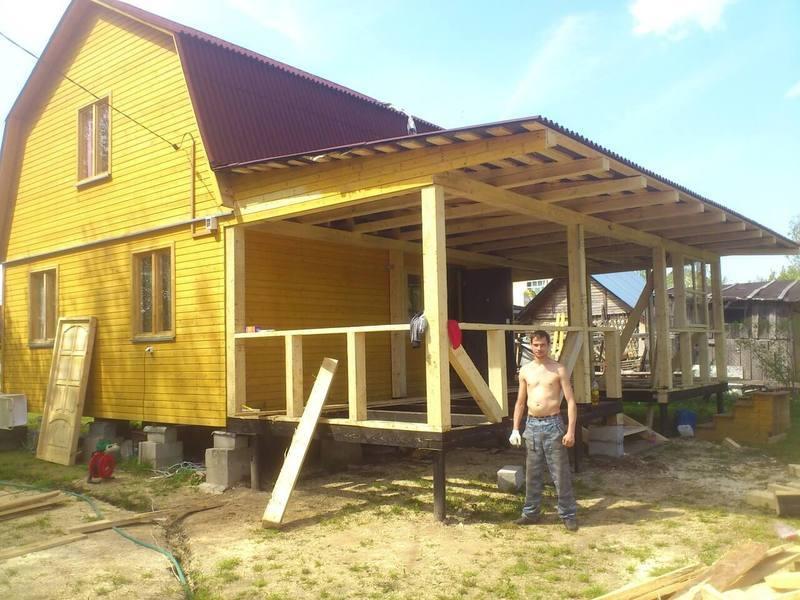 Построить пристройку деревянному дому своими руками фото 280