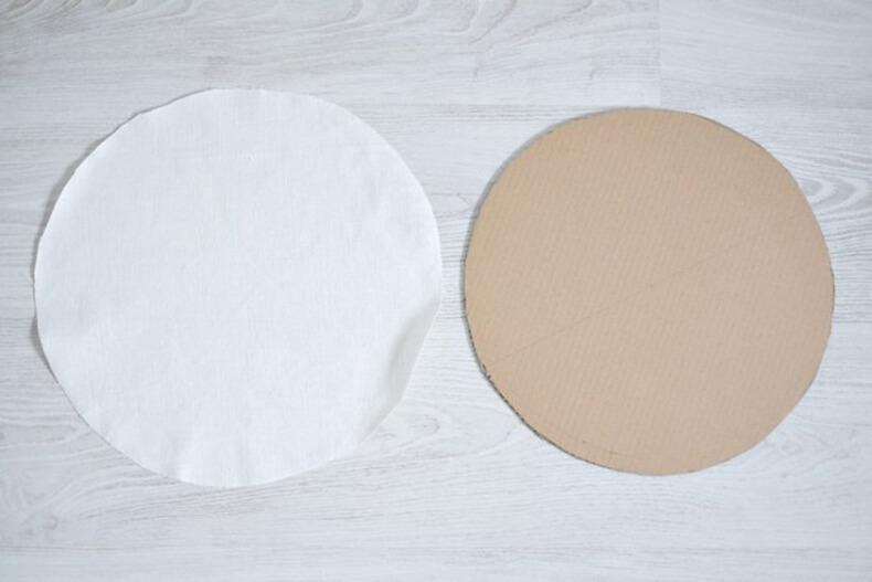 Как сделать круг из картоном
