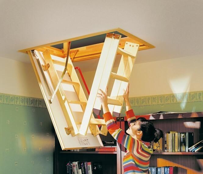 Как сделать чердачную лестницу 971