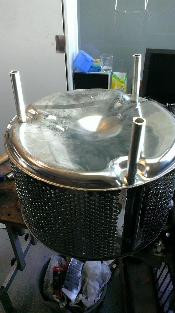 Самодельный «Очаг» из стиральной машинки
