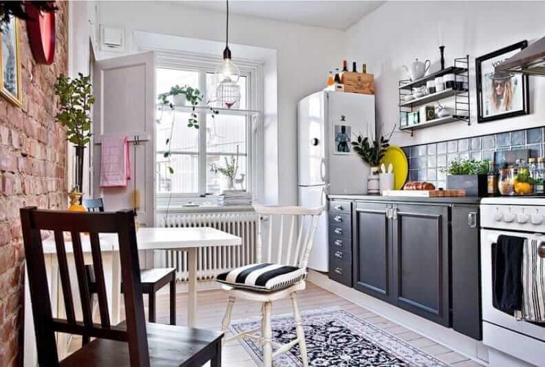 кухня без верхних шкафов идеи планировки