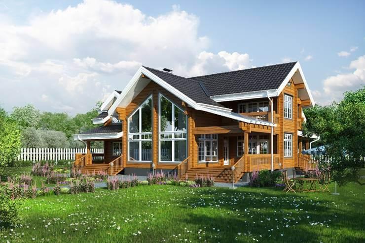 10 домов из дерева