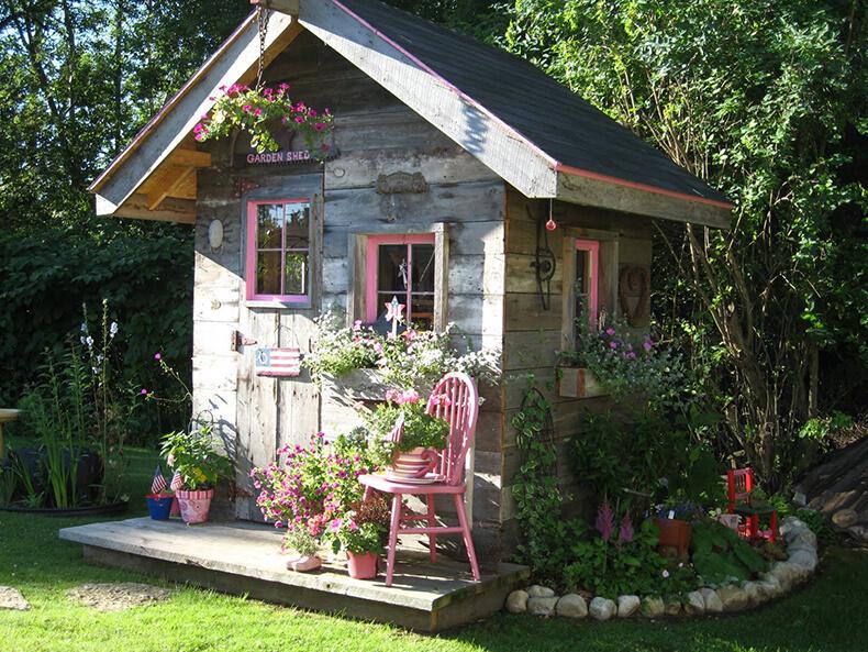 Домики садовые своими руками