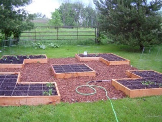 Square foot garden! I like the design -But do the spaces have to big in the middle? What do you put in that spot? Makes me think of a prayer spiral walking garden path.